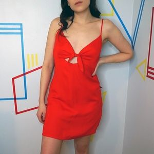 Urban Outfitter's Red Cut Out Dress